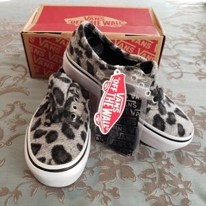 Vans Authentic Platform Snow Leopard Sneakers